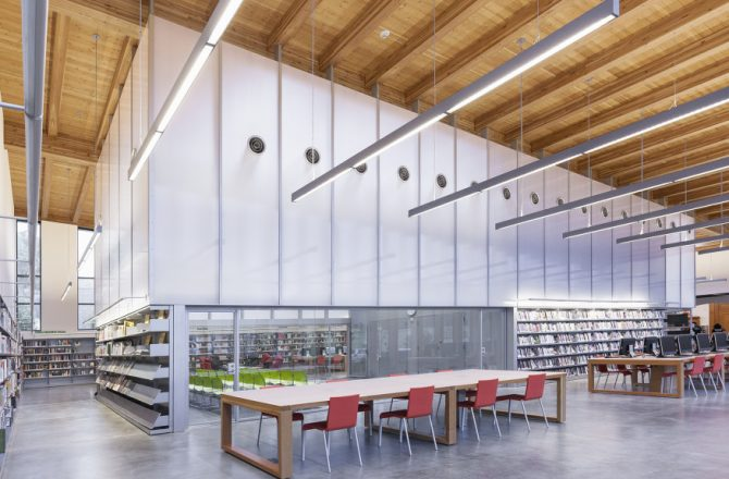 Staten Island Library Meets Linear Architectural Lighting