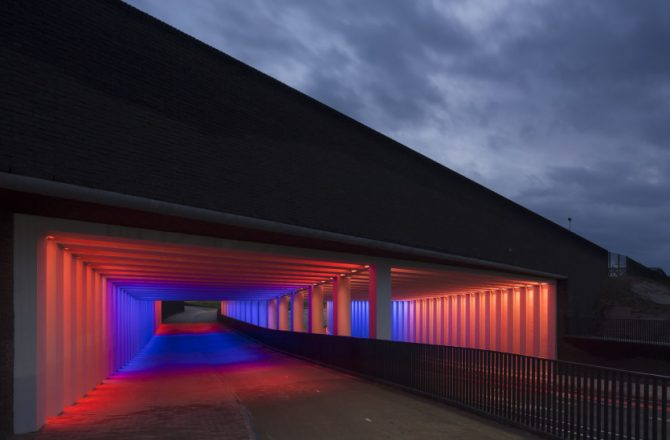 Dutch Artist Illuminates Highway Underpasses