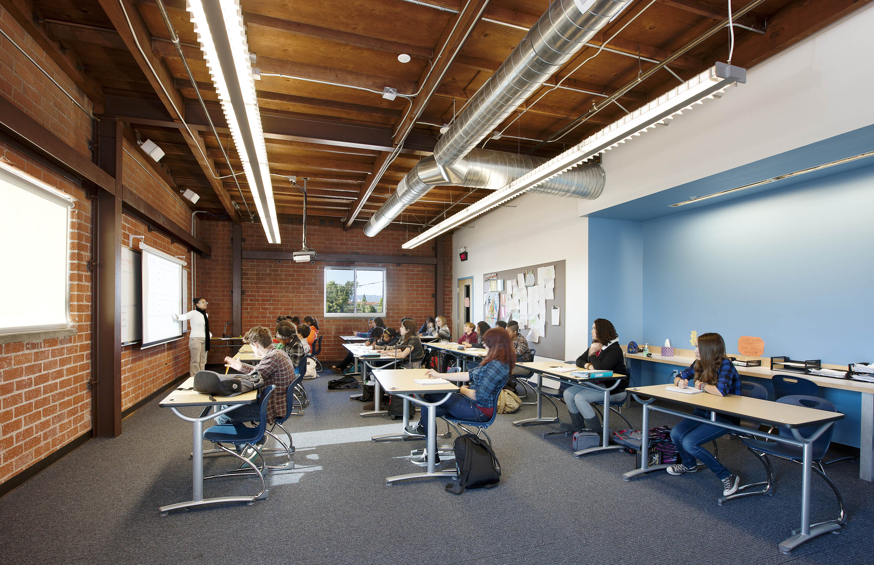 Classrooms are required to utilize partial-ON lighting controls