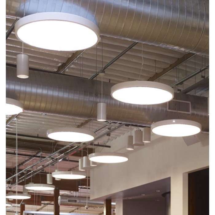 Led Hanging Light Fixtures: Betacalco Ring White LED Direct Pendant Light Fixture