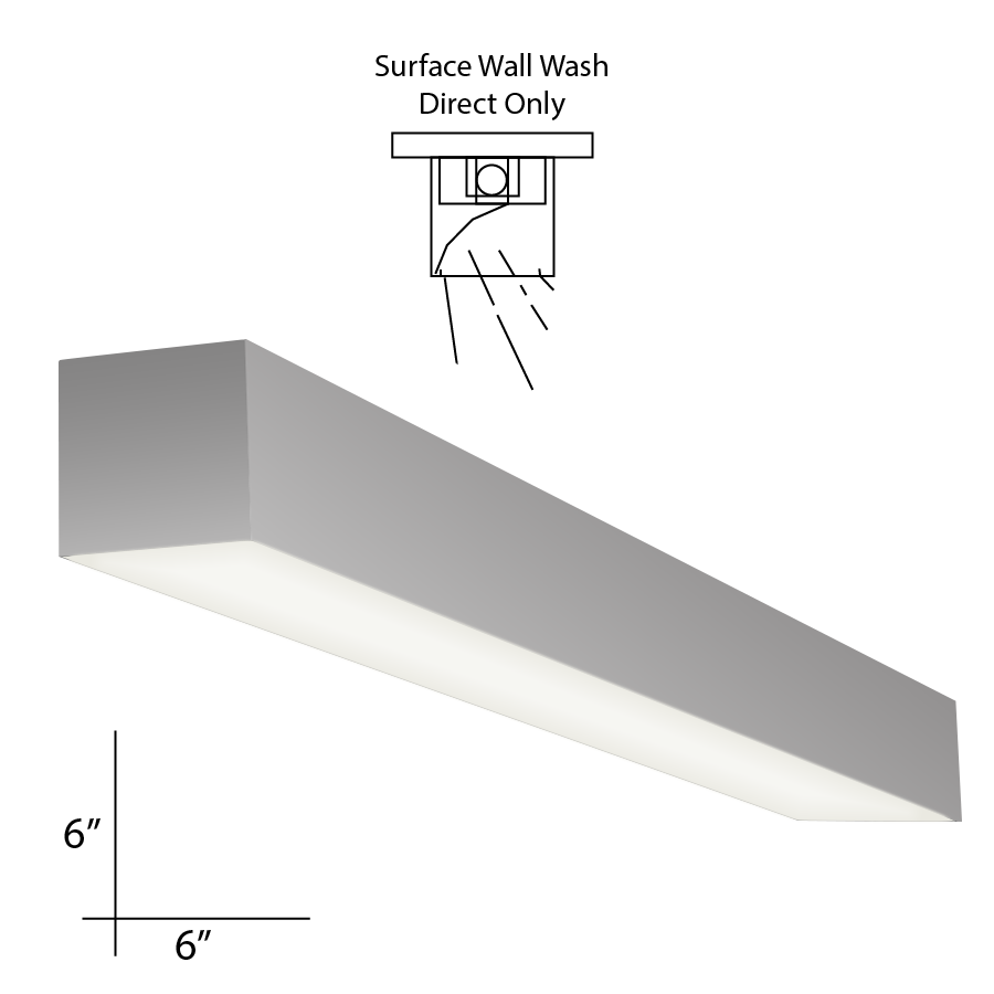 Alcon Lighting 12109-S-WW-8 Continuum 66 Series Architectural LED 8 Foot  Linear Surface Mount Direct Down Light Fixture