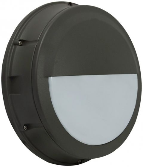 Alcon Lighting 11231-E Optic 12.5 Inch Round/Square Eyelid Guard Architectural LED Wallpack Outdoor Vandal Proof Luminaire
