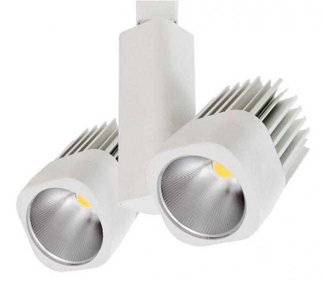 Image 1 of Intense Lighting MBSX2 2-Light Vertical Square Track Light