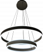 Image 7 of Alcon Lighting 12270-2 Redondo Suspended Architectural LED 2 Tier Ring Direct Indirect Chandelier Light