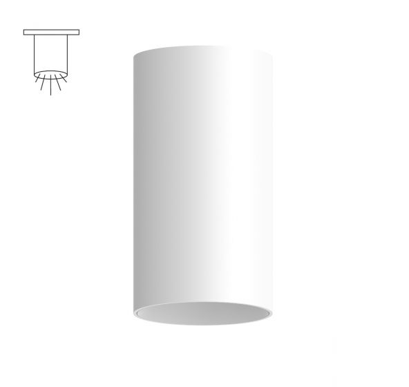 Alcon Lighting 11148-S Cilindro II Architectural LED Medium Modern Cylinder Surface Mount Direct Light Fixture