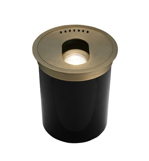 Alcon Lighting 9030 Clifton Architectural Landscape LED Low Voltage Cast Brass In Ground Well Light