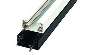 Image 1 of Alcon 13000-TC-2 Universal 2' - 12' Two Circuit Track Channel for LED Track Lights