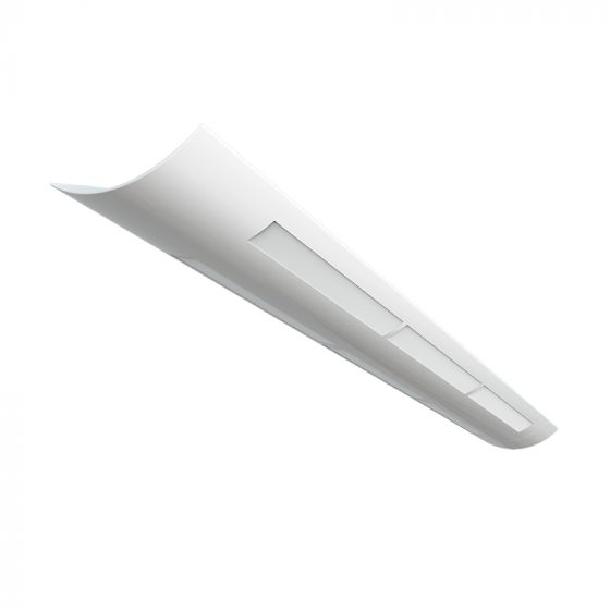 Image 1 of Alcon Lighting Matte White Lens 10121-MW-4 Architectural 4 Foot Linear Fluorescent Pendant Mount Linear Suspension Direct Indirect Lighting Fixture