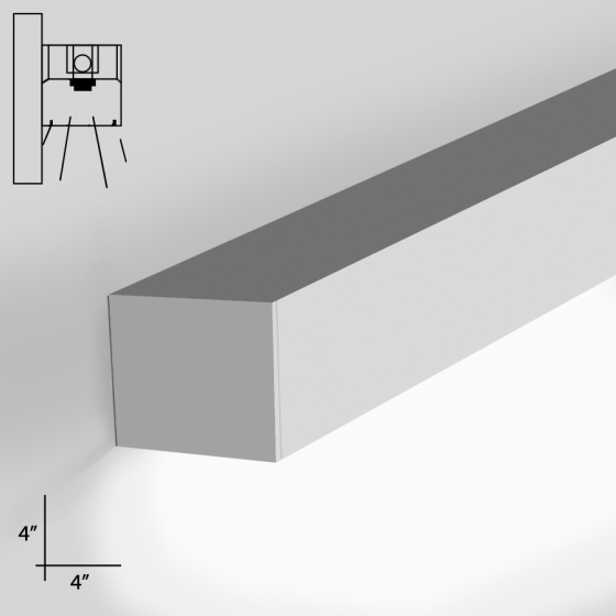 Image 1 of Alcon Lighting 12100-44-W Continuum 44 Series Architectural LED Linear Wall Mount Direct Down Light Fixture