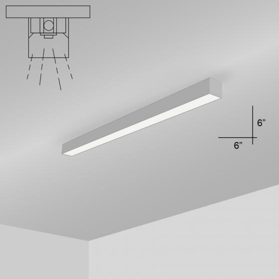 Image 1 of Alcon 12200-6-S RFT Series LED Linear Surface Mount Light