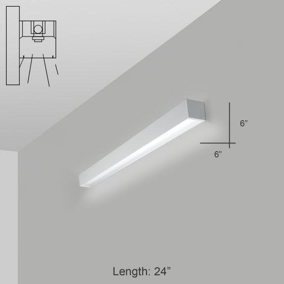 Alcon Lighting 12200-6-W RFT Series Architectural LED Linear Wall Mount Direct Light Fixture