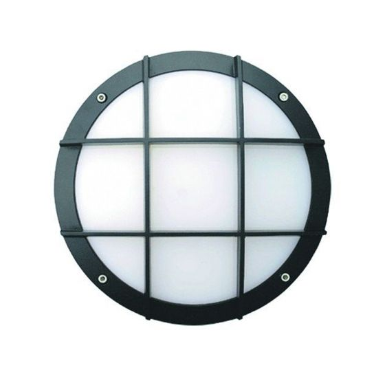 Image 1 of Alcon Lighting 11231-C Optic 10 Inch Round Cross Face Guard Architectural LED Wallpack Outdoor Vandal Proof Luminaire