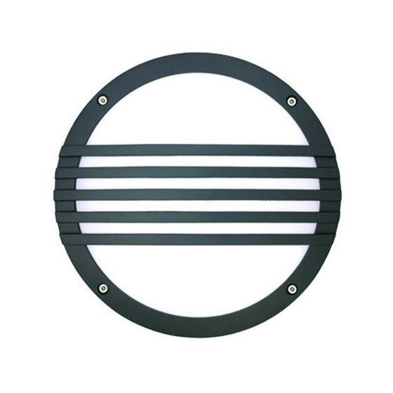 Image 1 of Alcon Lighting 11231-S Optic 10 Inch Round Striped Face Guard Architectural LED Wallpack Outdoor Vandal Proof Luminaire