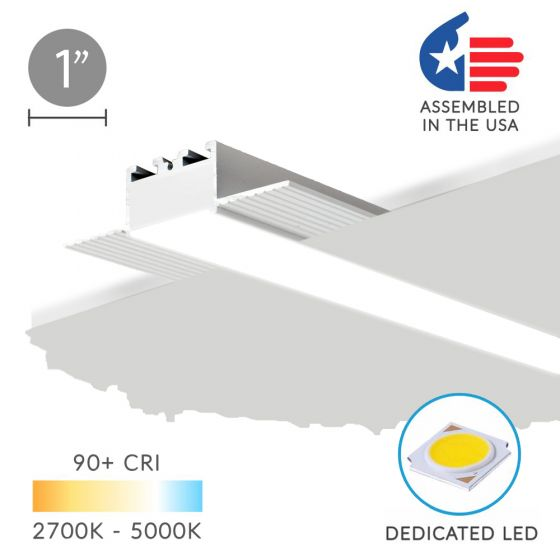 Image 1 of ALCON 12100-10-LR Drywall Height Recessed Linear Trimless LED Light