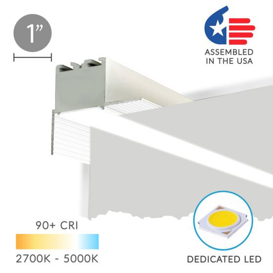 Image 1 of Alcon 12100-10-PR Linear Recessed Wall Wash Perimeter LED Light