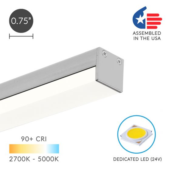 Image 1 of Alcon Lighting 12100-10-S Slim Continuum 10 Series Architectural LED Linear Surface Direct Down Light Fixture