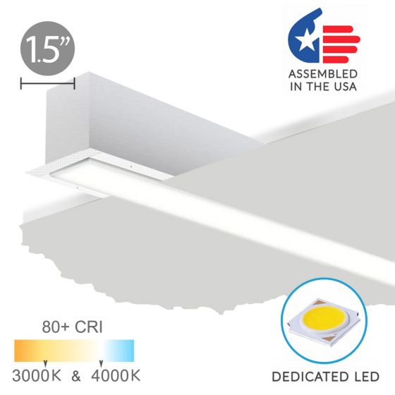 Image 1 of Alcon 12100-15-R Recessed Linear Trimless LED Light