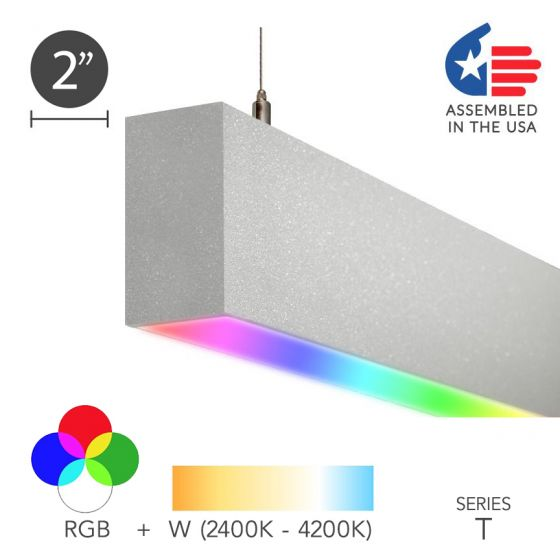 Image 1 of Alcon 12100-20-RGBW-P Color-Changing Linear Slim LED Pendant Light