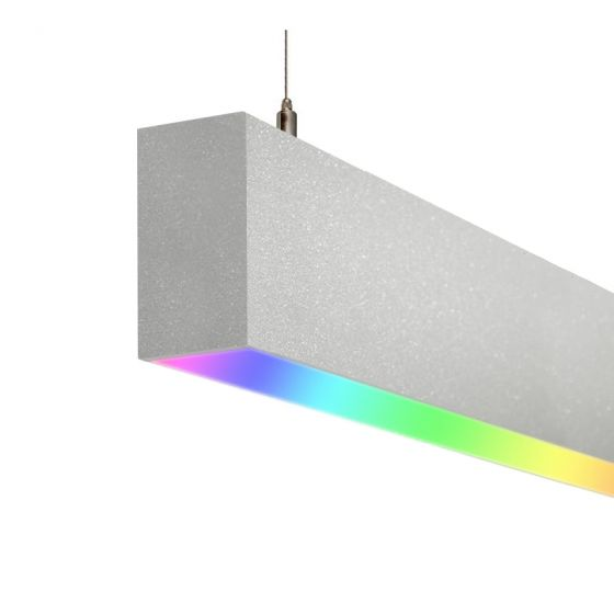 Image 1 of Alcon 12100-20-P-RGBW Color-Changing Linear Slim LED Pendant Light