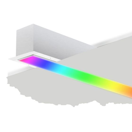 Image 1 of Alcon 12100-20-R-RGBW Linear Recessed Slim Color-Changing LED Light