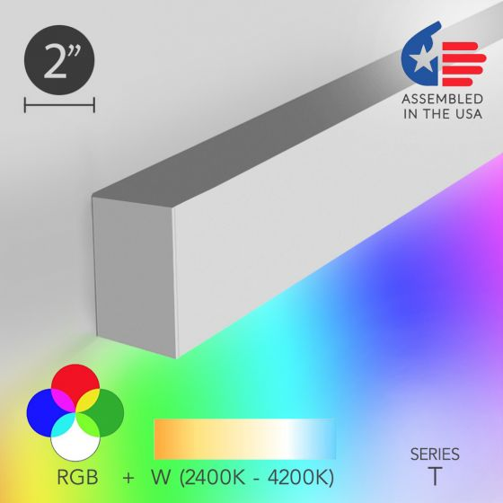 Image 1 of Alcon 12100-20-RGBW-W Linear Slim Wall Color-Changing LED Light