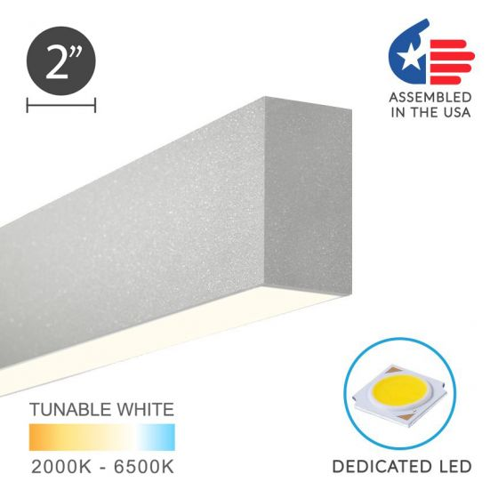 Image 1 of Alcon 12100-20-S Linear Surface-Mounted Color-Tunable LED Ceiling Light