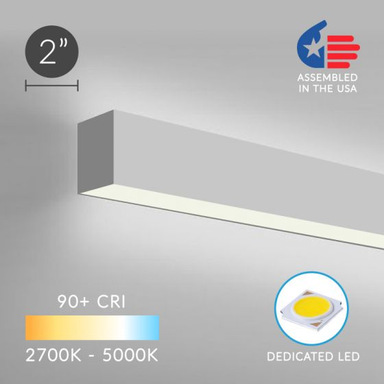 Image 1 of Alcon Lighting 12100-20-W Continuum 20 Architectural Direct and Indirect LED Linear Wall Mount Lighting