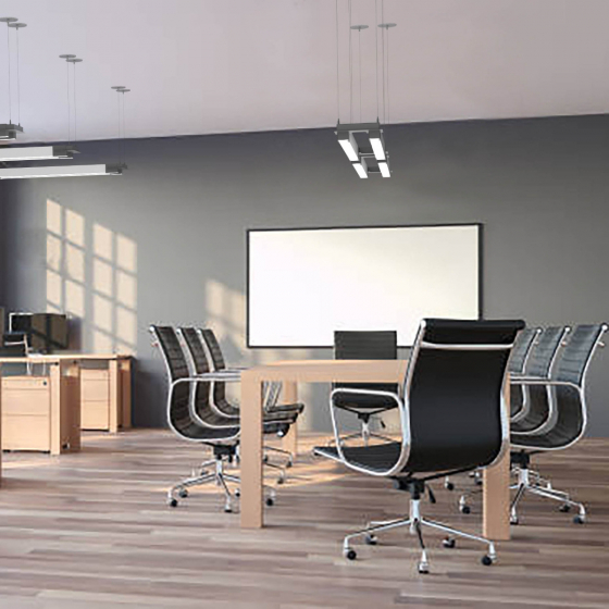 Image 1 of Alcon 12100-23-DU Architectural Dual LED Bar Pendant Light