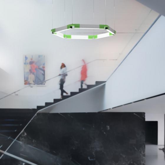 Image 1 of Alcon 12100-23-HX Architectural Hexagon LED Pendant Light