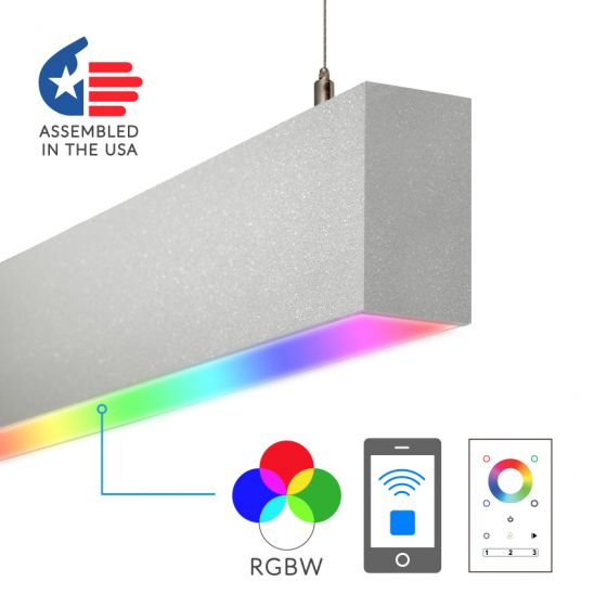 Image 1 of Alcon Lighting 12100-23-RGBW-P Color Changing Continuum 23 Series Architectural LED Linear Pendant Direct Light Fixture