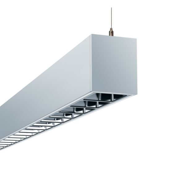 Image 1 of Alcon 12100-23-P-LV Architectural Linear Louvered LED Pendant Uplight/Downlight