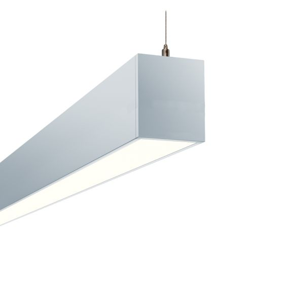Image 1 of Alcon 12100-23-P-OP Architectural Linear LED Pendant Uplight/Downlight
