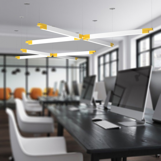 Image 1 of Alcon 12100-23-X Architectural Cross LED Pendant Light