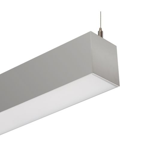 Image 1 of Alcon Lighting 12100-33-P Continuum 33 Architectural LED Linear Pendant Direct Light Fixture