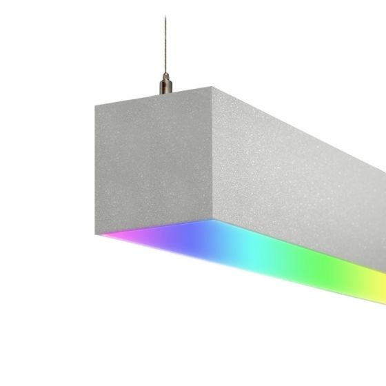 Image 1 of Alcon 12100-40-P-RGBW Color-Changing Linear LED Pendant Light