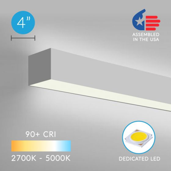 Image 1 of Alcon Lighting 12100-40-W Continuum 40 Series Architectural Direct and Indirect Wall Mount LED Linear Lighting