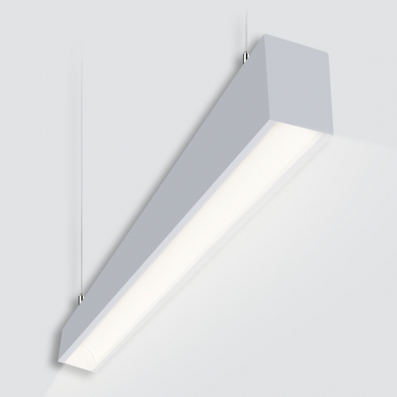 Image 1 of Alcon 12100-44-CG-P Continuum 44 Curve Glow Architectural Linear Pendant