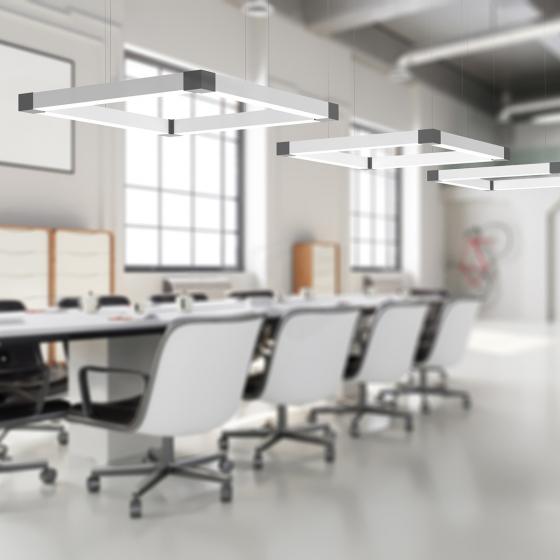 Image 1 of Alcon 12100-44-SQ Architectural Square LED Pendant Light