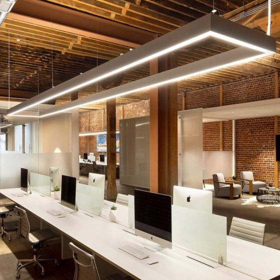 Image 1 of Alcon 12100-45-P-RC Commercial-Grade Rectangular LED Pendant