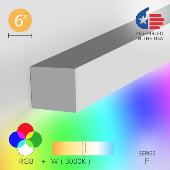 Image 1 of Alcon 12100-66-RGBW-W Linear Wall-Mounted Color-Changing LED Light