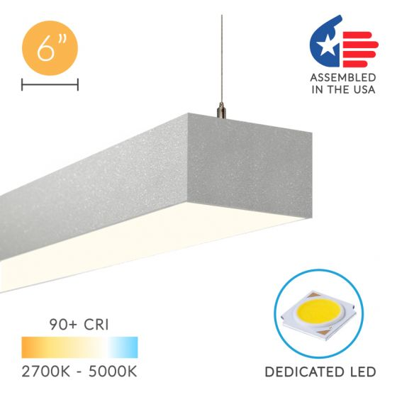 Image 1 of Alcon Lighting 12100-64-P Continuum 64 Series Architectural LED Linear Pendant Mount Direct/Indirect Light Fixture