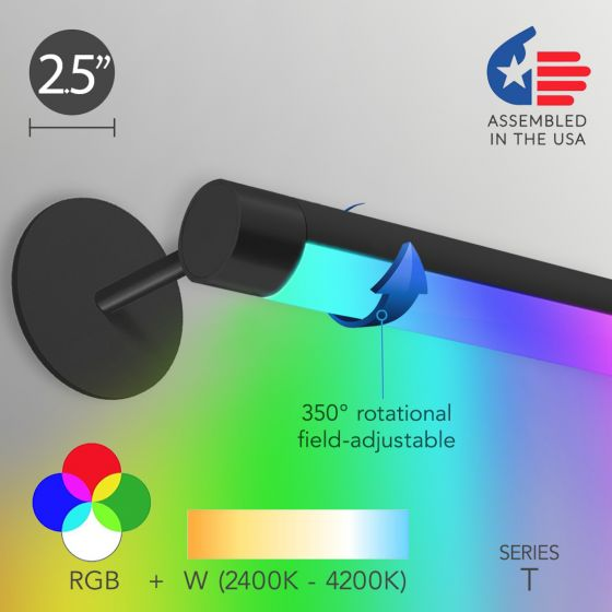 Image 1 of Alcon 12100-R2-RGBW-W Color-Tunable Linear Adjustable LED Wall Wash Light