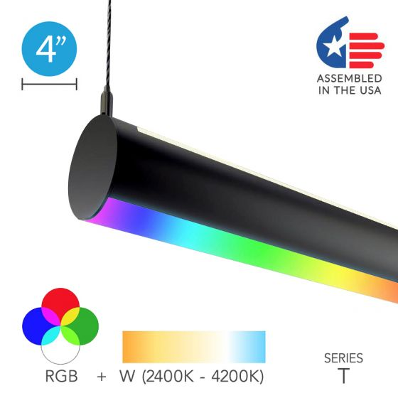 Image 1 of Alcon 12100-R4-RGBW-P LED Color-Tunable Tube Pendant Light