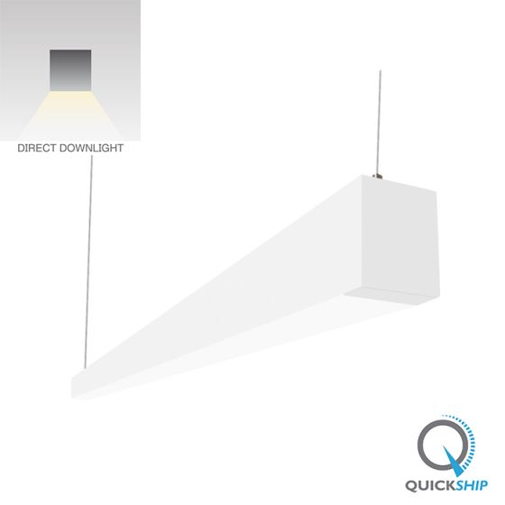 Image 1 of Alcon Lighting 22145 Beam 253 Series Architectural LED Linear Pendant Direct Light Fixture - 4000K, White