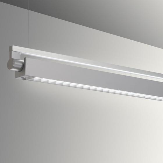 Image 1 of Alcon Gladstone 12160-P-LDI Adjustable LED Pendant Light Fixture - Louvered
