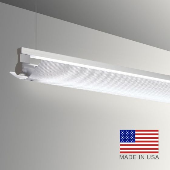Image 1 of Alcon Gladstone 12160-P-LDI Adjustable LED Pendant Light Fixture - Louvered