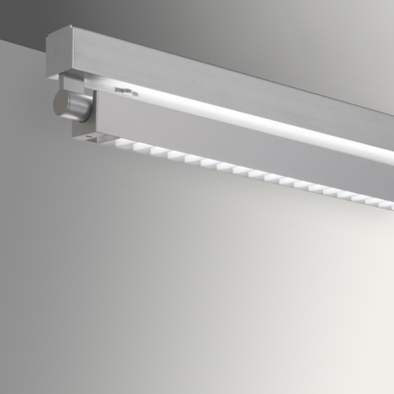Image 1 of Alcon 12160-S-LDI Adjustable Louvered Surface-Mount Linear LED Light