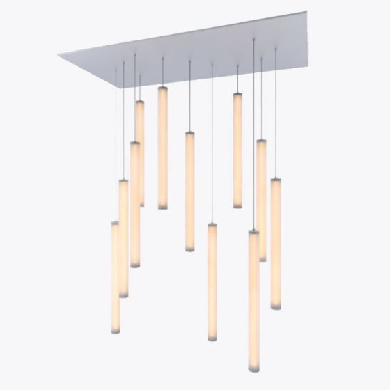 Image 1 of Alcon Lighting 12168-11 Cosma 11 Light Cluster Architectural LED Long Cylinder Vertical Tube Commercial Pendant Light Fixture