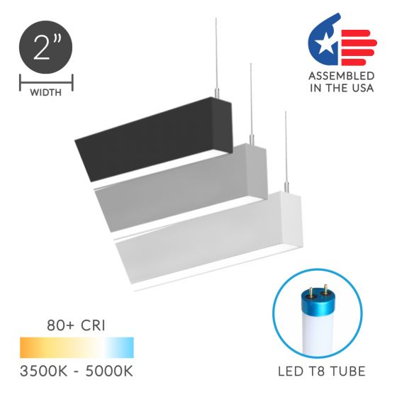 Image 1 of Alcon 12200-2-P RFT Series LED Linear Suspended Pendant Light