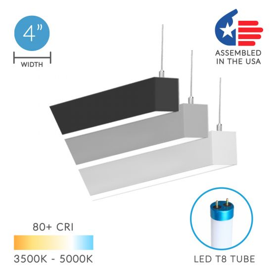 Image 1 of Alcon 12200-4-P RFT LED Linear Suspended Pendant Mount Light